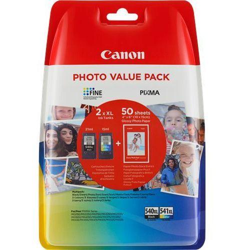 Canon tusz Black PG-540XL, PG540XL + Color CL-541XL, CL541XL, 5222B013, 5222B014 + 50 arkuszy papieru