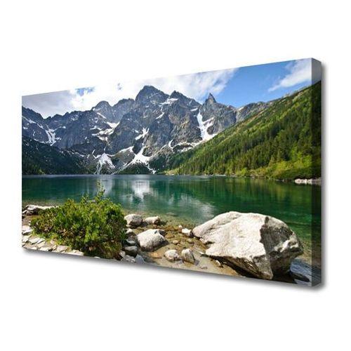 Obraz canvas jezioro góry krajobraz marki Tulup.pl