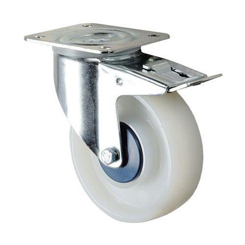 Kółko z poliamidu, białe, ø x szer. kółka 100x36 mm, rolka skrętna z podwójną bl marki Tente