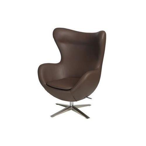 D2.design Fotel jajo szeroki skóra ekologiczna 524 brązowy (5902385722322)
