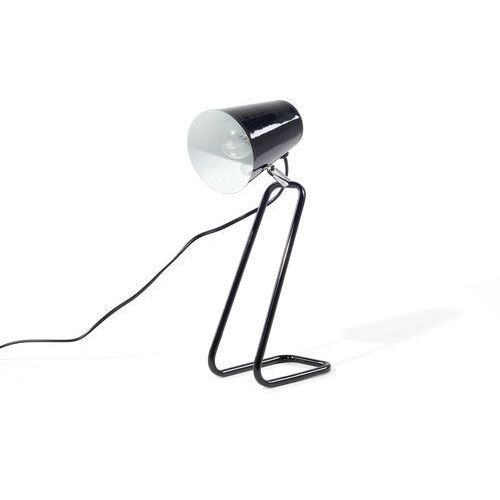 Beliani Lampa biurkowa czarna kasai