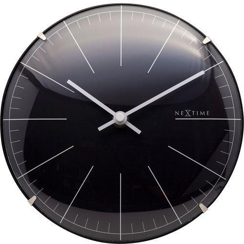 Nextime Zegar ścienny / stojący big stripe mini dome 20 cm, czarny (3506 zw) (8717713019671)