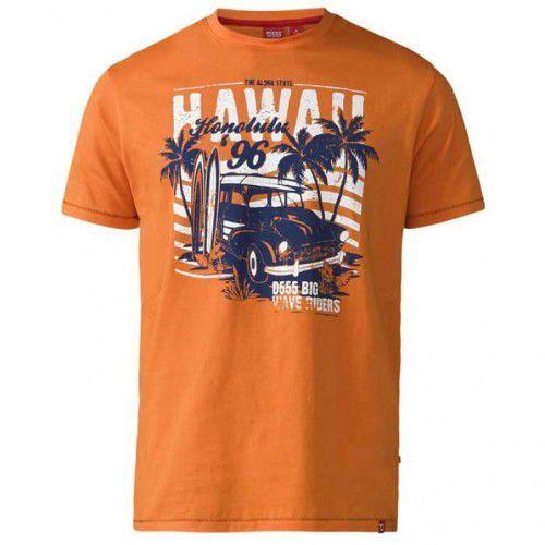 Fremont-d555 duży t-shirt męski pomarańczowy, Duke