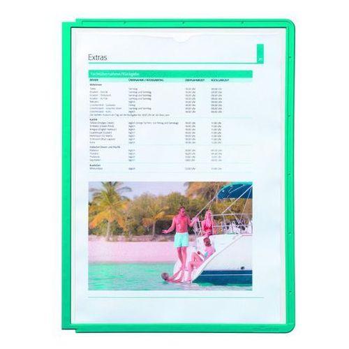 Tablice przezroczyste z ramą profilowaną, do din a4, opak. 10 szt., zielony, od marki Durable