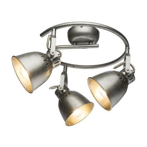 Spirala Globo Hernan 54651-3 lampa sufitowa spot 3x40W E14 srebrny szary (9007371357529)
