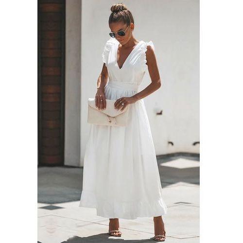 Sukienka BELISIA WHITE. Najniższe ceny, najlepsze promocje w sklepach, opinie.