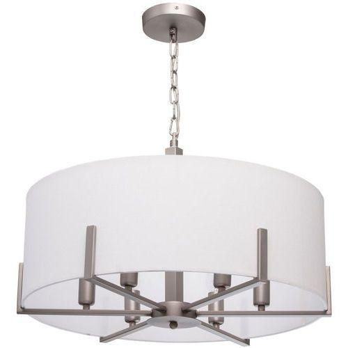 Lampa wisząca kremowy abażur, satynowa konstrukcja MW-Light Megapolis (453011906)