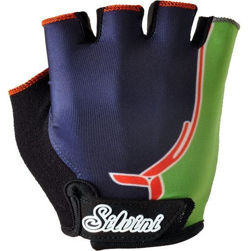rękawiczki rowerowe punta ca848j navy-green 11-12 marki Silvini