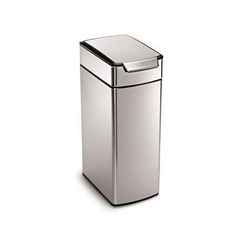 Simplehuman - kosz na śmieci touch-bar, wąski 40l - stal fpp