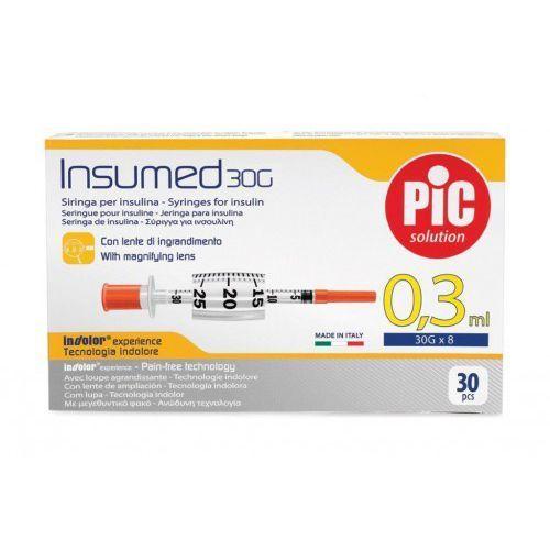 Astrana s.p. a. Strzykawki insulinowe insumed 0,3ml g30x8mm (30 szt.)