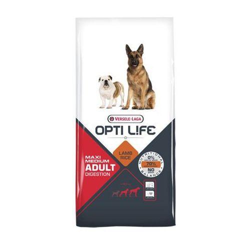 opti life - adult digestion medium & maxi 2x12,5kg marki Versele laga