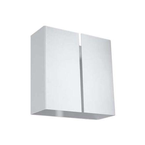 Kinkiet lampa ścienna sl.375 kwadratowa oprawa metalowa biała marki Sol