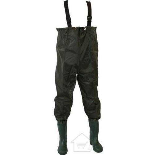 1 Wodery wędkarskie - spodnie rybackie z butami rozmiar 45