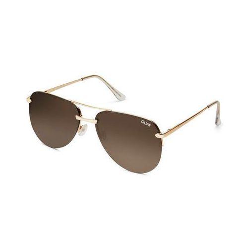 Okulary Słoneczne Quay Australia QW-000156 THE PLAYA GOLD/BRN