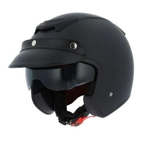 Astone sportster 2 mono color matt black kask otwarty
