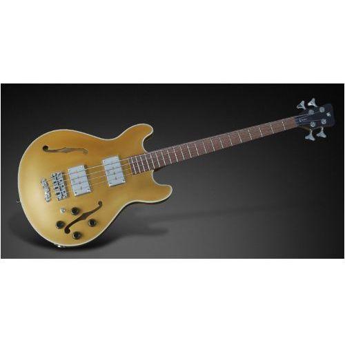 star bass 4-string, solid gold metallic high polish, fretted - medium scale gitara basowa marki Rockbass