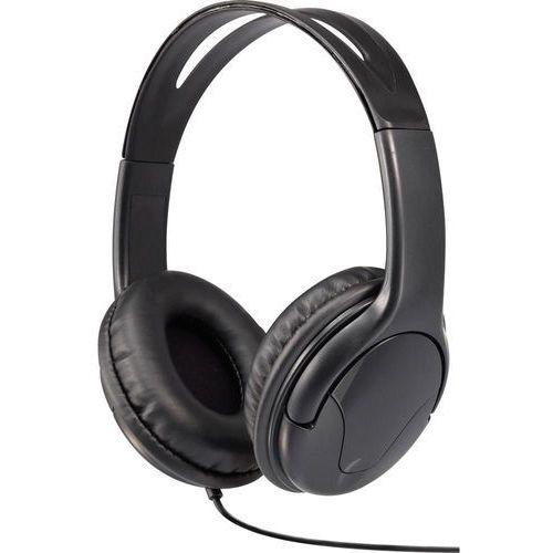 Słuchawki Hi-Fi, nauszne Renkforce HP-960S, 98 dB, 32 Ω, 15 - 22.000 Hz, Złącze męskie jack 3,5 mm, czarny