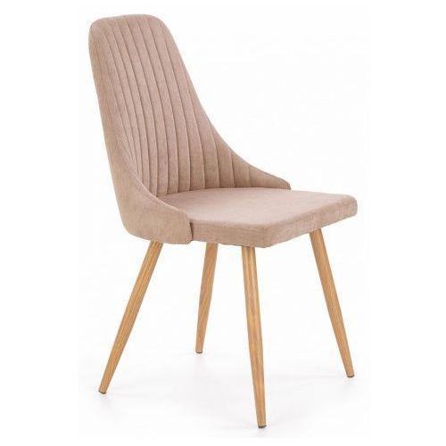 Krzesło tapicerowane Isent - beżowe, kolor beżowy