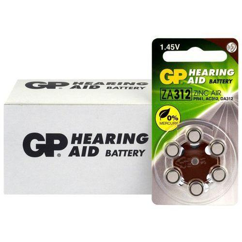 60 x baterie do aparatów słuchowych 312 / za312 / pr41 marki Gp