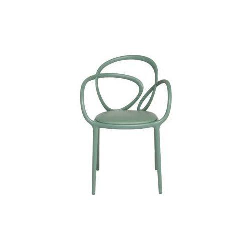 krzesło loop z poduszką zielone - 2 szt. 30002ge marki Qeeboo
