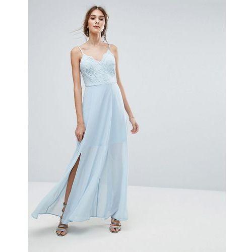 New Look Lace Cami Maxi Dress - Blue, kolor niebieski