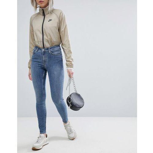 body high waist superskinny jeans - blue, Weekday