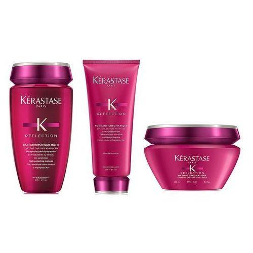 Kerastase Chromatique Riche   Zestaw do włosów farbowanych i grubych: kąpiel 250ml + odżywka 200ml + maska 200ml (9753198542033)