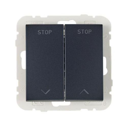Efapel Włącznik żaluzjowy logus 90 czarny (5603011637866)