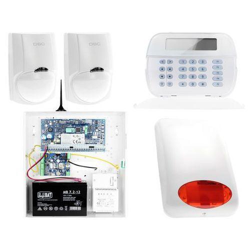Za12535 zestaw alarmowy 2x czujnik ruchu manipulator lcd powiadomienie gsm marki Dsc