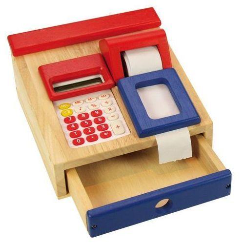 Kasa sklepowa z kalkulatorem i pieniążkami