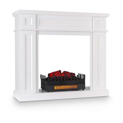 lausanne frame, obudowa kominka, wkład kominkowy kamini fx, 2000 w, mdf, biała marki Klarstein