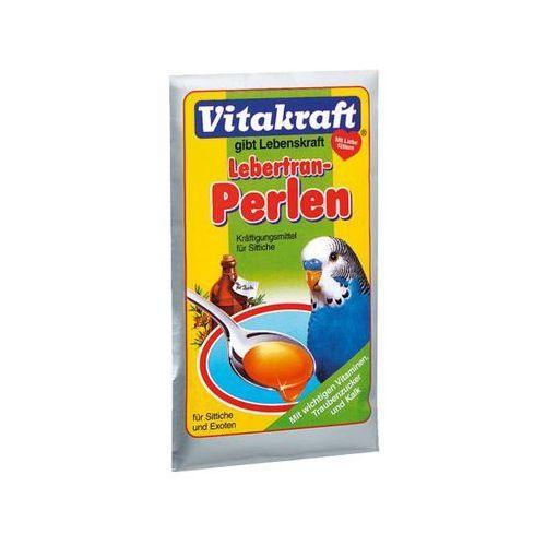 Vitakraft Lebertran Perlen 20g - pokarm z tranem dla papugi falistej z kategorii Pozostałe dla ptaków
