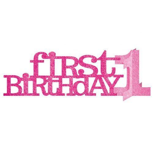 Dekoracja stołu na roczek First Birthday - 1 szt.