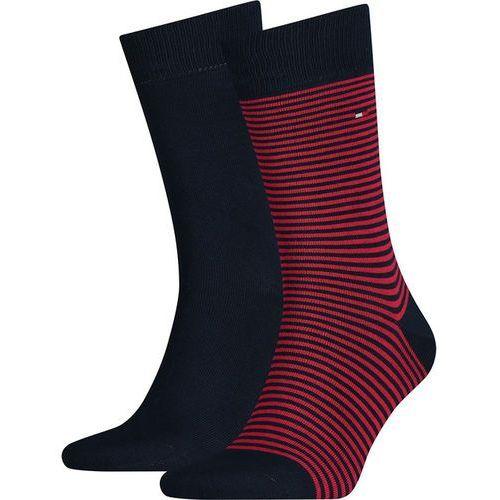 Tommy hilfiger Skarpety 2pack men small stripe sock 085
