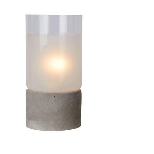 KENN - Lampa stojąca SzkłoBeton Szary Wys.26,5cm, 71544/01/41