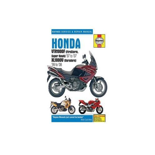 Honda VTR1000F (Firestorm, Superhawk) & XL1000V (Varadero) Service and Repair Manual, Haynes