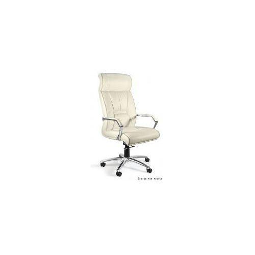 Unique meble Krzesło biurowe celio hl skóra naturalna beż