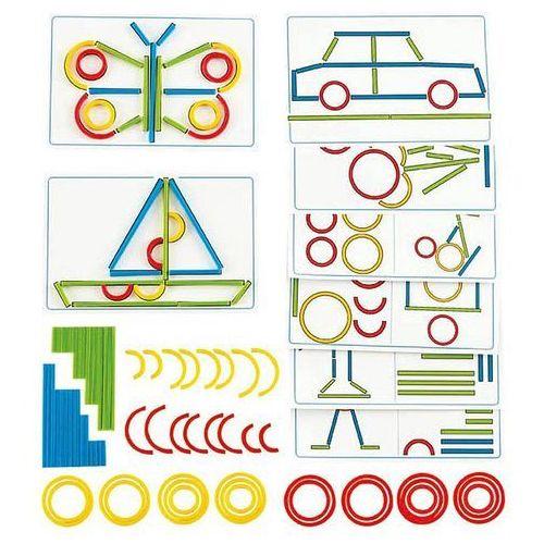 Hape Układanka dla dzieci kształty patyczki kółka