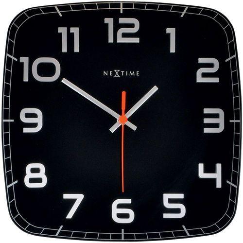 Zegar ścienny Classy Nextime 30 x 30 cm, czarny (8816 ZW), kolor czarny