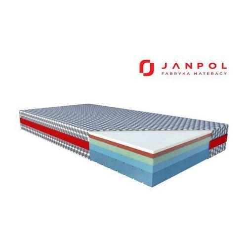 JANPOL SIRONA – materac termoelastyczny, piankowy, Rozmiar - 160x200, Pokrowiec - Biaxial NAJLEPSZA CENA, DARMOWA DOSTAWA (5906267400315)