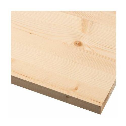 Spaceo Półka drewniana klejona świerk 80 x 40 cm