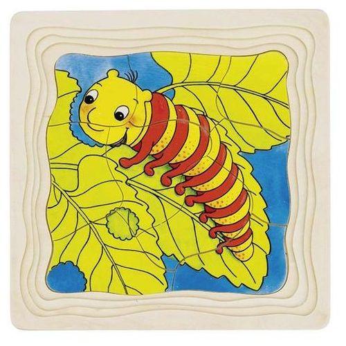 Goki Puzzle warstwowe, etapy rozwoju motyla, 4 obrazki, 44 el. (4013594575232)