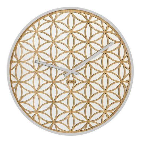 Zegar ścienny bella mirror biały marki Nextime