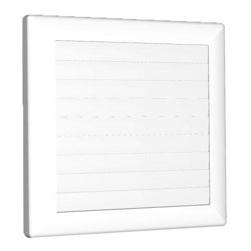 Kratka wentylacyjna zamykana ⌀ 125 biała 170x170mm AirRoxy 1362 (5903351801362)