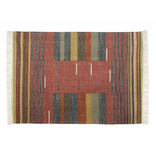 Vente-unique Dywan kilimowy tkany ręcznie z wełny arya - 160x230 cm - wielokolorowy