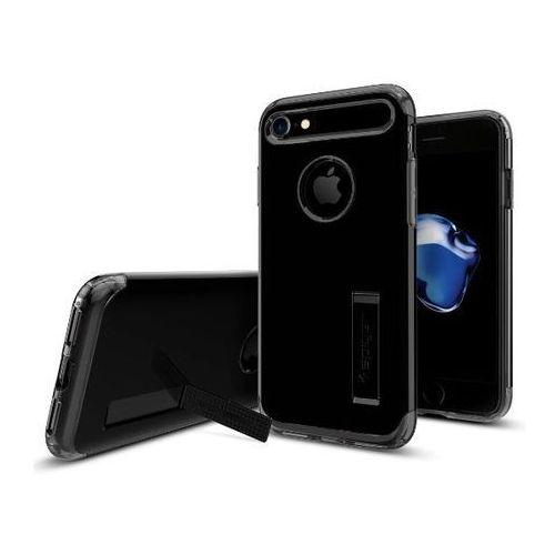 Etui Spigen Slim Armor iPhone 7, czarne z połyskiem, kolor Etui