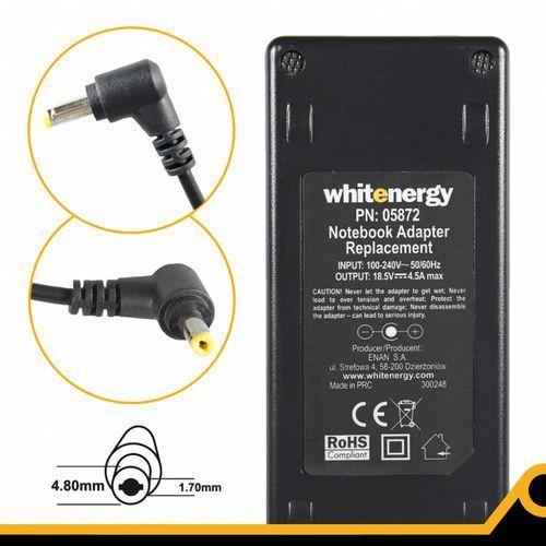 Whitenergy zasilacz 18.5v 4.5a 83w wtyczka 4.8 x 1.7mm hp compaq (5908214321452)