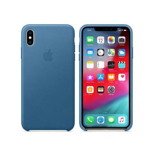 Apple leather case do iphone xs max, cape cod blue