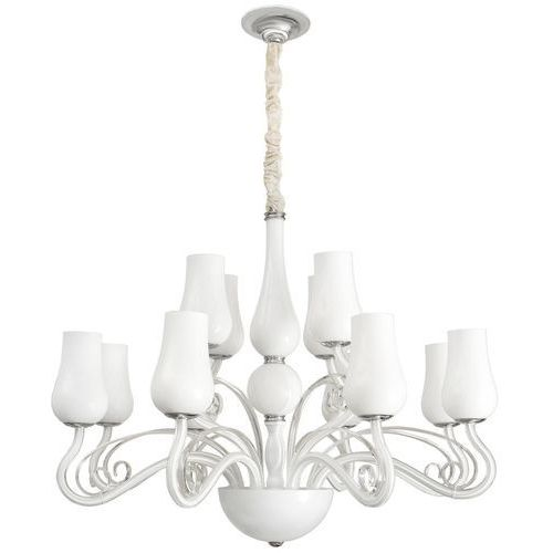 Eklektyczna lampa wisząca do dużego salonu glamour MW-LIGHT Elegance (483010112)