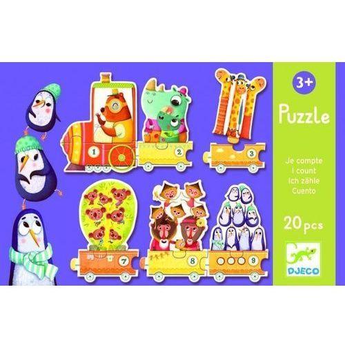 Djeco, Pociąg, puzzle, 20 elementów (3070900081505)